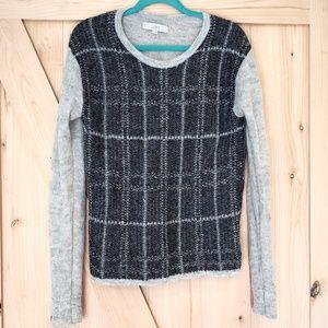 LOFT Mohair Windowpane Sweater